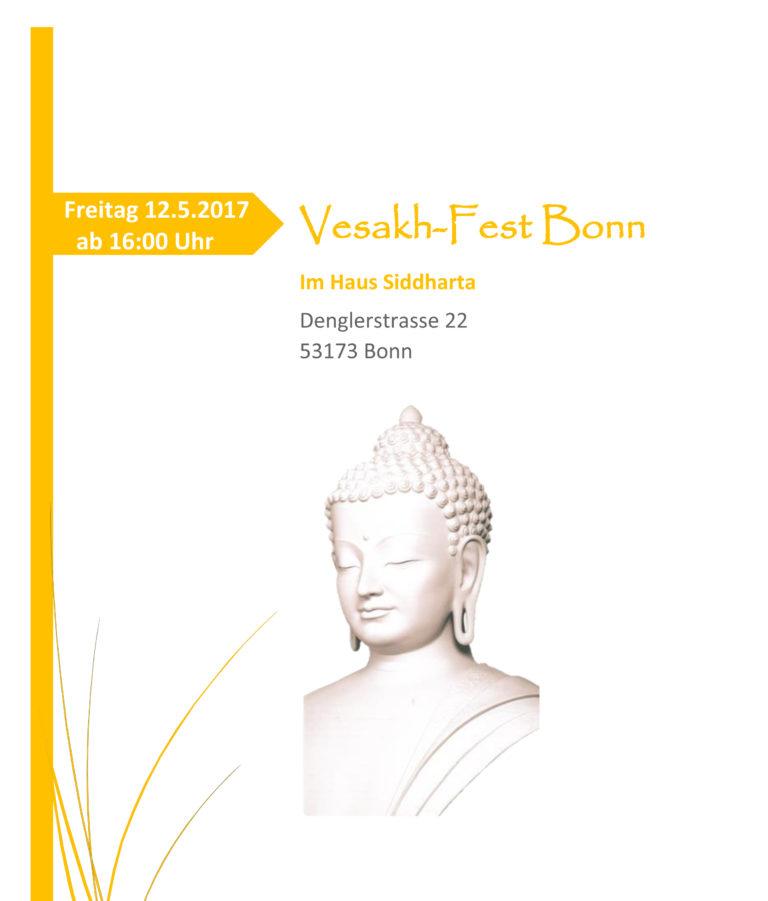 Vesakh Feier 2017 - Flyer