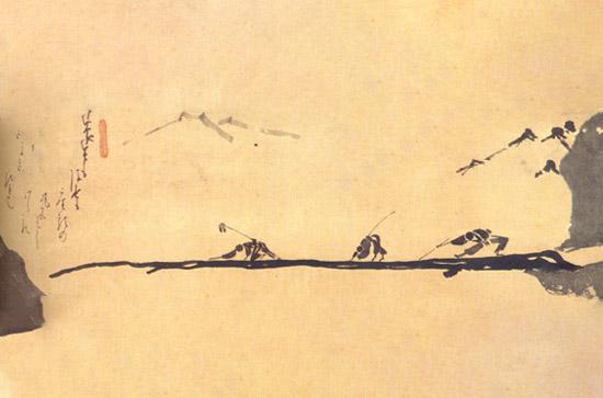 Blinde Männer über Brücke - Zen Tag in Stille