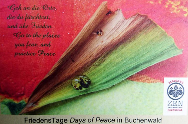 ZenPeacemakers Postkarte Buchenwald2018