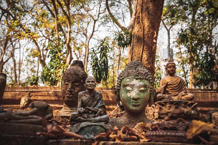 Buddhastatuen - Zazenkai im Mai 19