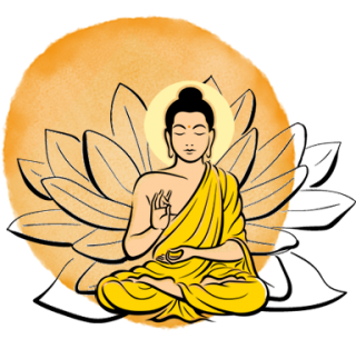 Splotch-buddha-gelb-lotus-schw